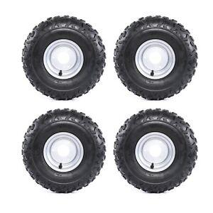 (4) x of 145/70-6 Wheel Rim Tire 50 70 90 110cc Taotao Quad ATV Go-Kart 4 wheel