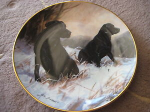FRANKLIN-MINT-034-WINTER-WATCH-034-ROYAL-DOULTON-LIMITED-EDITION-PLATE-8-034-DIAMETER