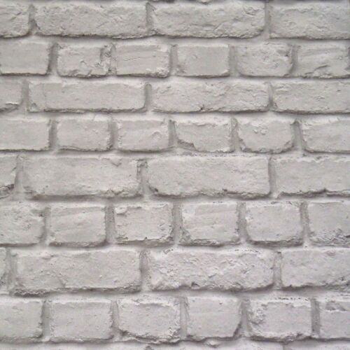 GREY BRICK EFFECT WALLPAPER RASCH 226720 NEW