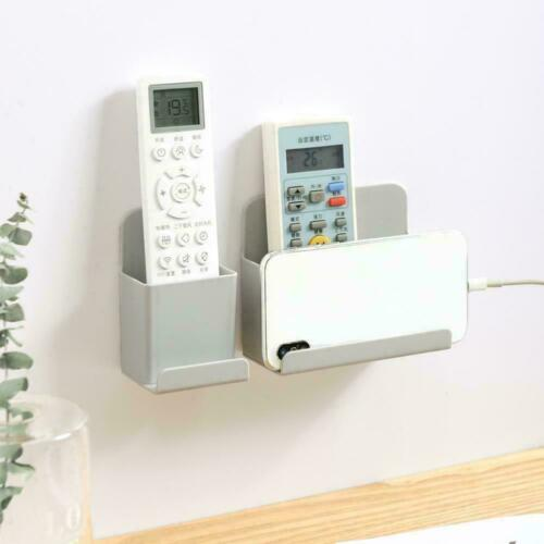 Wall Mounted TV Air Conditioner Remote Control Grey Holder Storage Hanger R3H7