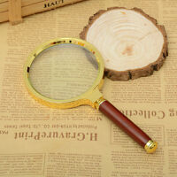 60mm/80mm/90mm Handheld 10X Magnifier Magnifying Glass Loupe Reading Jewelry