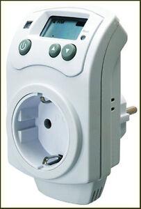 elektronisch thermostat zwischenstecker f r heizung klima temperaturregler ebay. Black Bedroom Furniture Sets. Home Design Ideas