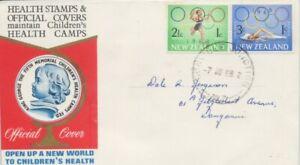 NEW-ZEALAND-1968-Health-FDC-addressed-D1908