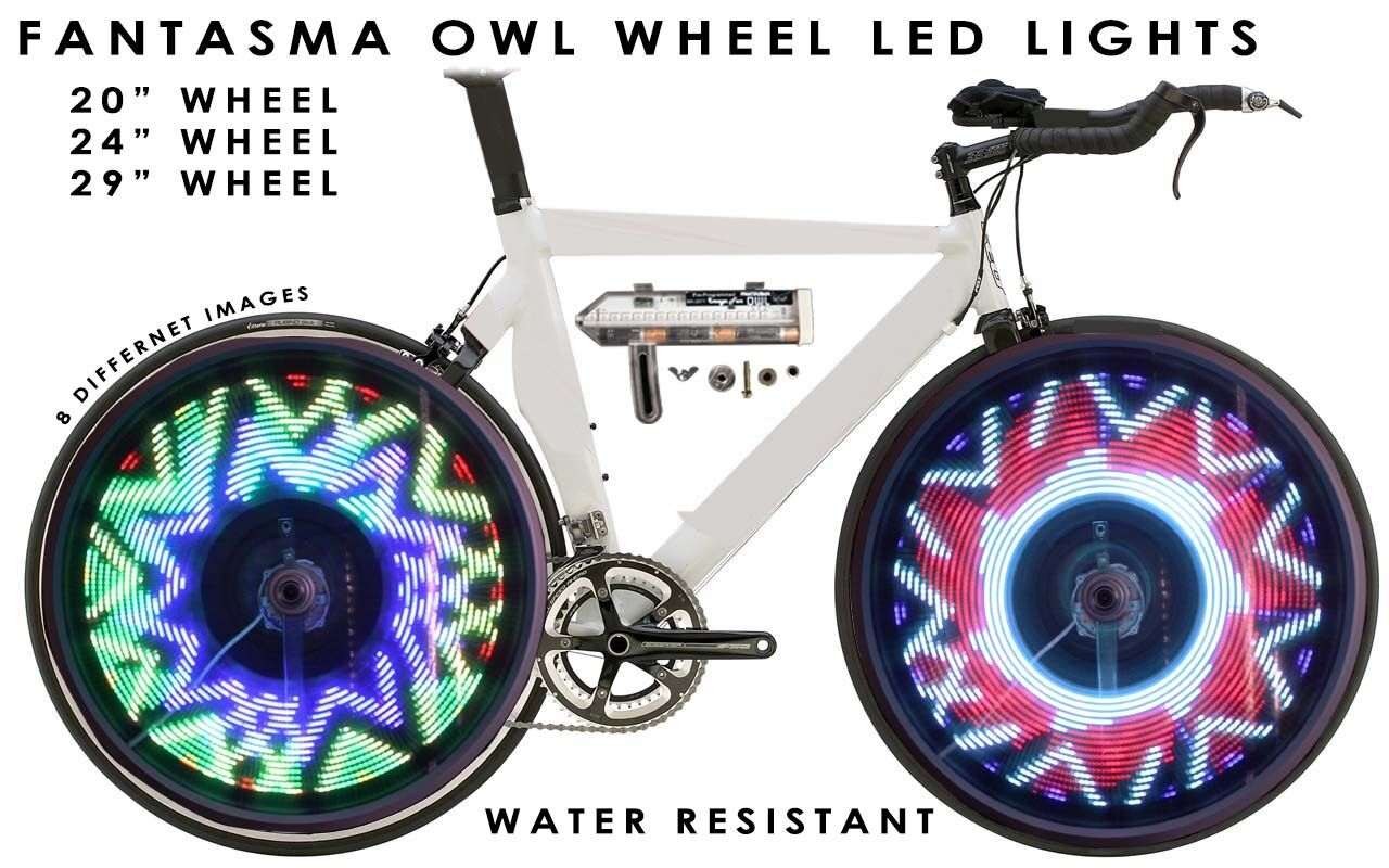 Fantasma OWL Spoke Wheel LED Light, 8 Images, 20  Wheel, One Wheel (BK-2071)