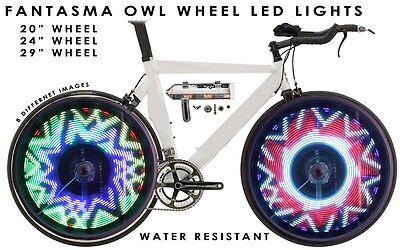 "Fantasma OWL Spoke Wheel LED Light, 8 Images, 20"" Wheel, One Wheel (BK-2071)"