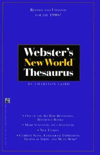 WEBSTER'S NEW WORLD THESAURUS: Third Edition - Paperback - VERY GOOD