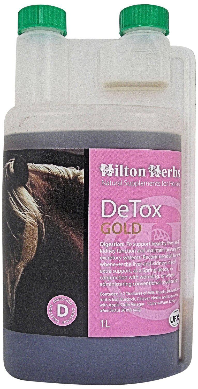 Hilton Herbs  Detox gold Horse Supplement 1 Litre & 3 Litre Kidney & Liver Funct  factory outlet