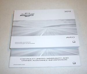 2011 chevrolet aveo owners manual guide 11 set ls lt ebay. Black Bedroom Furniture Sets. Home Design Ideas