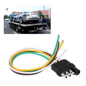 details about 4 pin trailer wiring harness extension plug flat wire connector adapter socket custom dynamics 4 pin trailer wire