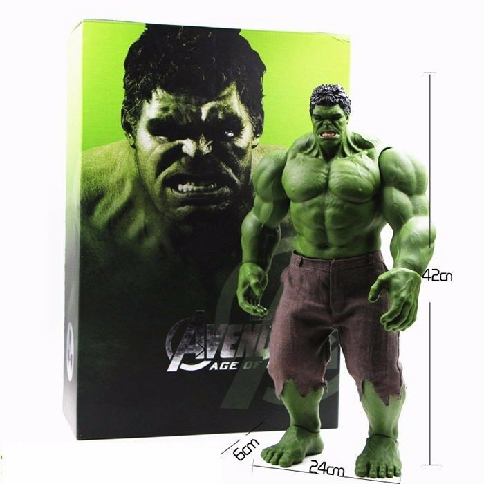 42cm Avengers Iron Man Hulkbuster Ragnarok Figure Doll PVC Toy Anime Hulk green