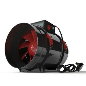 Black-Orchid-Hydroponic-Grow-Room-Fan-Tent-In-Line-Extractor-Duct-4-034-5-034-6-034-8-034