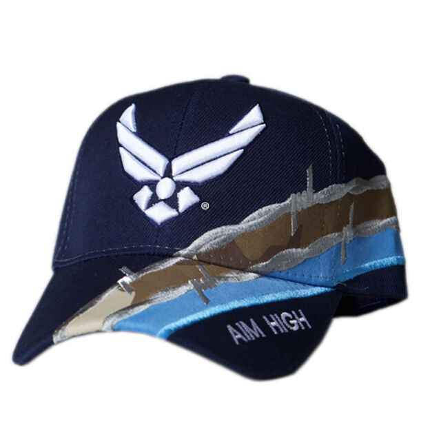 6f50cec3eb9 US Honor Official Embroidered Barbed Wire Air Force Wing Logo Baseball Caps  Hats
