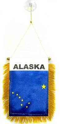 "Verantwoordelijk Wholesale Lot 12 State Of Alaska Mini Flag 4""x6"" Window Banner W/ Suction Cup Matching In Kleur"