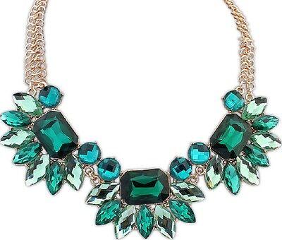 New Fashion Crystal Rhinestone Pendant Choker Chunky Statement Necklace Jewelry