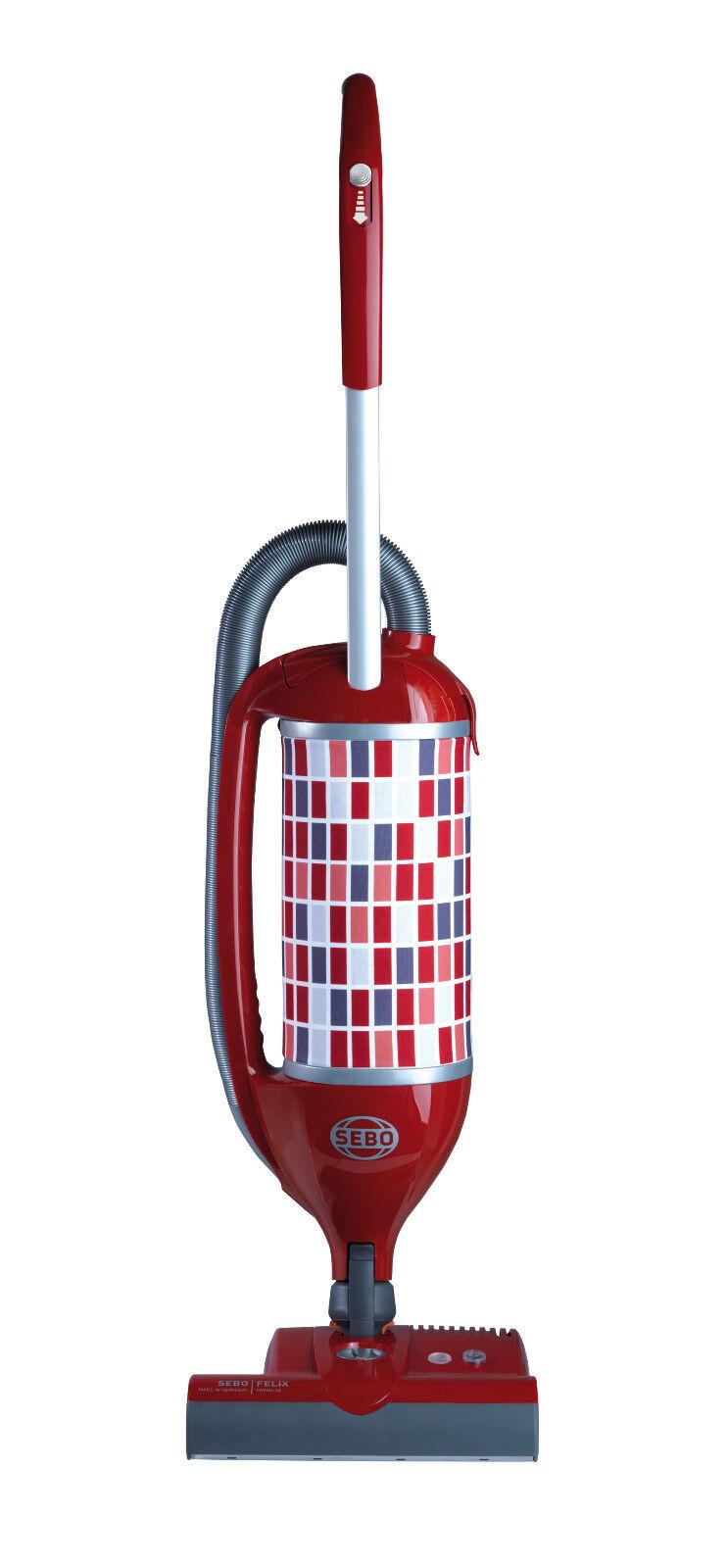 Sebo Felix 1 Premium rouge Nouveau Modèle Mit 8 Sacs et 4 Jahre Garantie