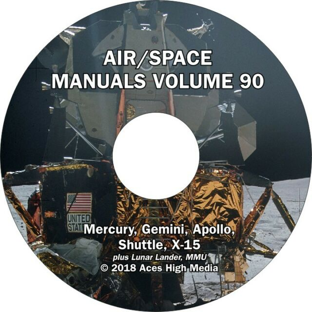 VOLO NELLO SPAZIO manuali su CD MERCURY, Gemini, APOLLO LUNAR MODULE, Shuttle