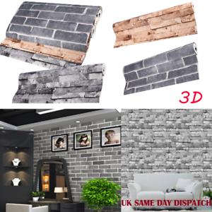 3D-FEATURE-GREY-BRICK-WALLPAPER-PLASTIC-VINYL-FILM-PVC-Slate-Stone-Rustic-UK-10m