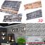 3D-FEATURE-GREY-BRICK-WALLPAPER-PLASTIC-VINYL-FILM-PVC-Slate-Stone-Rustic-UK-10m thumbnail 1