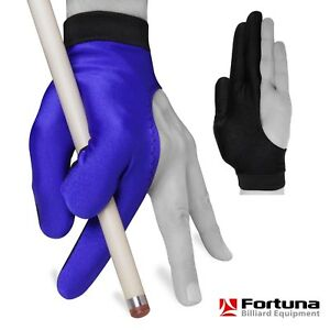 Fortuna Billiard POOL CUE GLOVE - for Left Hand - Blue and Black