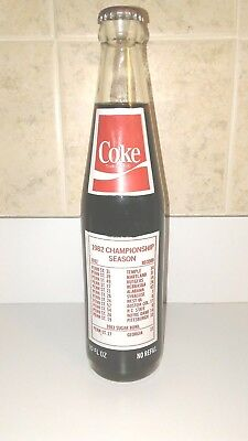 Coca-Cola 1982 Penn State National Champions 10 oz Commemorative bottle MINT