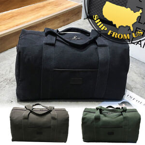 New-Men-039-s-Military-Canvas-Duffle-Luggage-Travel-Bags-Shoulder-Bags-Gym-Handbags