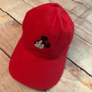 Disney-Mickey-Mouse-papa-Gorra-De-Beisbol-Sombrero-de-Algodon-Talla-Correa-Ajustable-Rojo