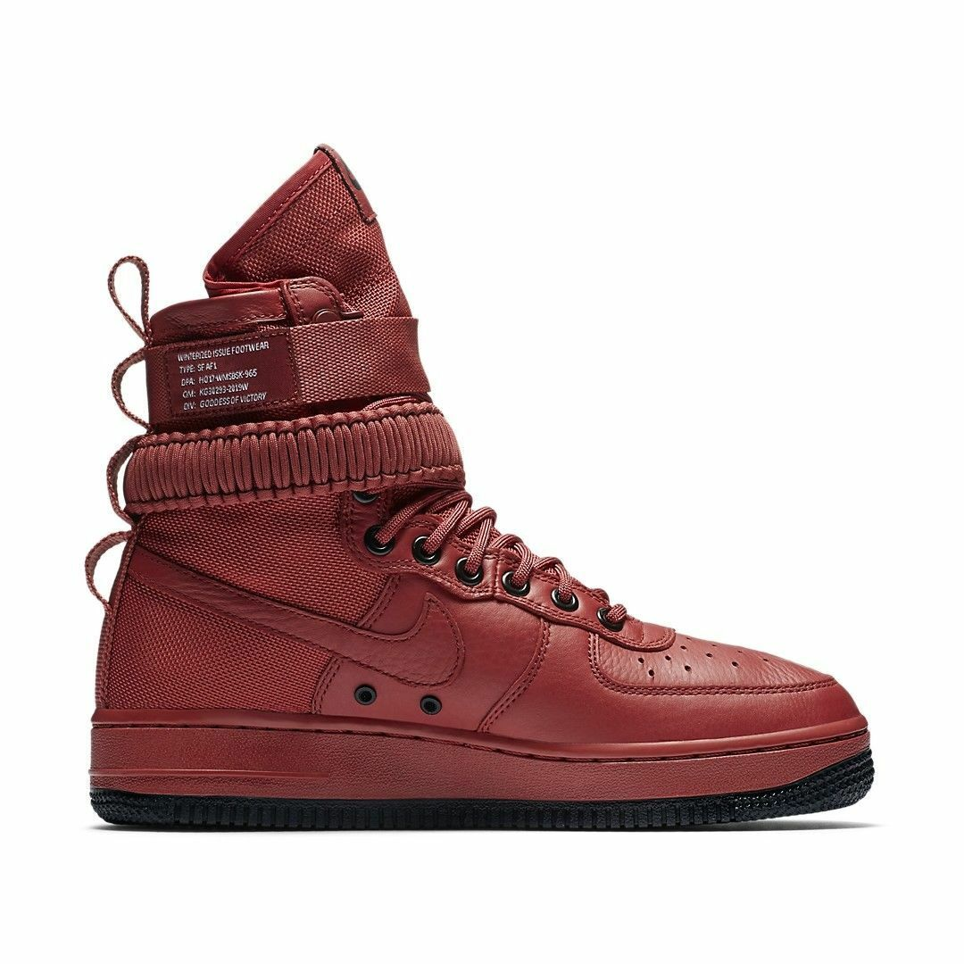 NIKE WMNS SF AF1 SPECIAL FIELD AIR FORCE CEDAR RED BLACK Price reduction