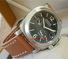 PARNIS Power Reserve Seagull movement Automatic men's watch Brushed case