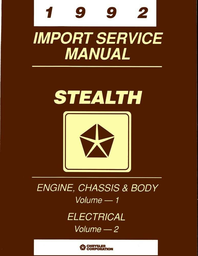 1992 Dodge Stealth Shop Service Repair Manual Book Engine Drivetrain Electrical