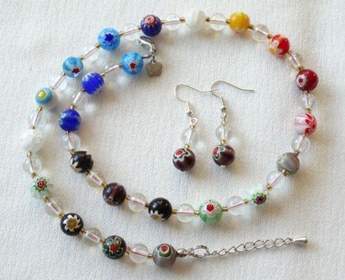 Ohrringe in verschiedenen Ausführungen und Farben Murano Millefiori Kette