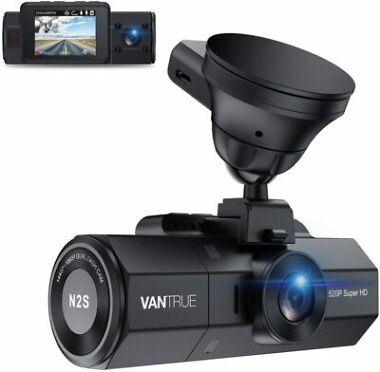 Vantrue N2S 4K 1440P Front and Inside Dash Camera with GPS