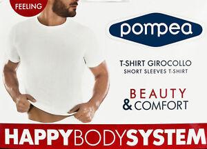Maglia Da Uomo T-shirt Pompea Microfibra Girocollo Mezza Manica Elasticizzata
