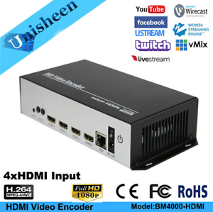Details about H 264 4 Channels HDMI Video Encoder facebook rtmp IPTV Live  Stream Broadcast