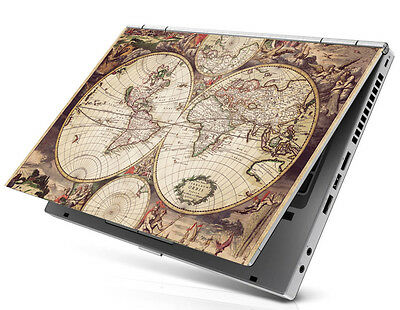 "15.6"" Laptop Notebook Skin Sticker Cover Decal acient vintage world map atlas"