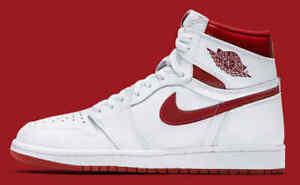 84b56caa552 Nike Air Jordan 1 Retro High OG White Metallic Red size 12. 555088 ...