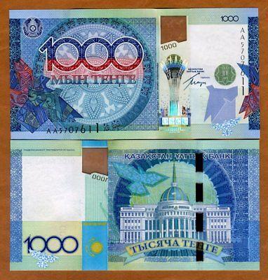 Kazakhstan 1000 Tenge, 2010, P-35, AA-Prefix, Hybrid Polymer UNC > Commemorative
