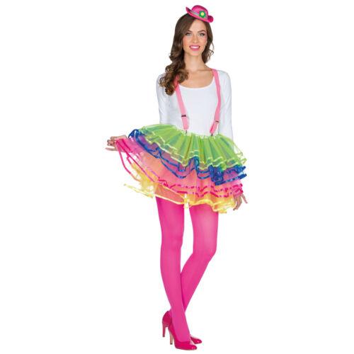 Cirque stufenrock Coloré tüllrock Pour Femmes Tutu Jupe Mini-jupe Clown STD 36-42