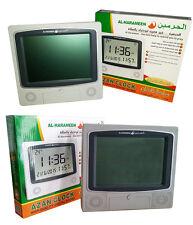 New Al Harameen Wall/Table LCD Azan Clock Islamic Alarm & Wall Calender Clock UK