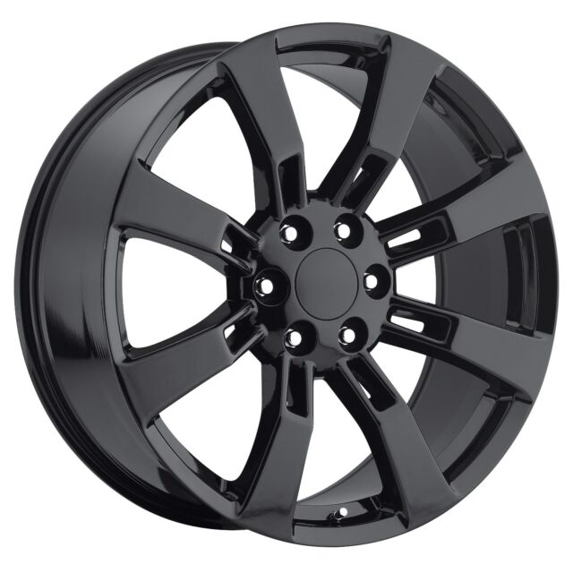"20"" CK375 Wheels Rims Gloss Black Fits Cadillac Escalade"