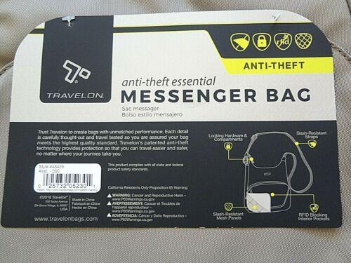 schoudertas Tan Travelon Active diefstal Medium Messenger Anti Khaki VpUMqSzG