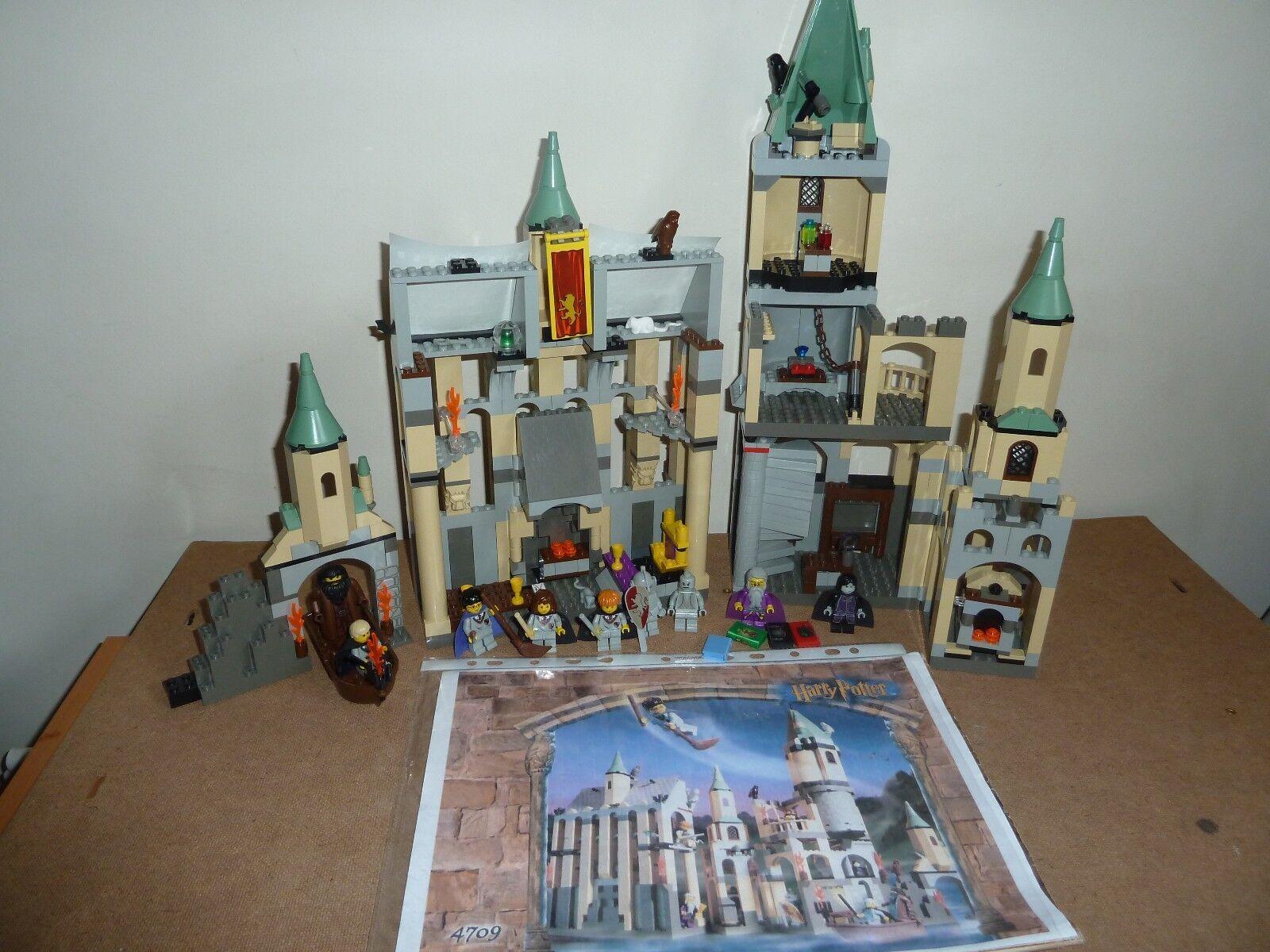 LEGO HARRY POTTER  4709 HOGWARTS CASTLE RARE 1ST EDITION 9 FIGURES INSTRUCTIONS