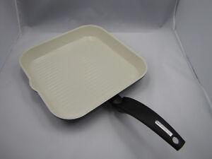 Alluflon Moneta Aluminium Grillpan White Ceramica 01 Pan