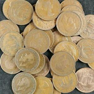 British Ha'pennies Job Lot 20 Vieux Demi Penny Pièces De 1896 à 1967 1/2 D Cuivre-afficher Le Titre D'origine Qzyqopif-07225941-608106585