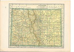 Colorado Map Art.1942 Vintage Colorado Map Ready To Frame For Art Ebay