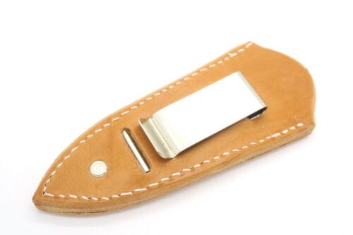 "Custom USA Leather Daga Cuchillo De Hoja Fija 3/"" funda de cinturón clip de arranque"