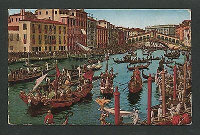 Italien Ak 1923 Venedig Venezia Canale Grande Rialto Alte Ansichtskarte D7440 Grade Produkte Nach QualitäT
