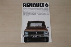Renault R 6 Prospekt 1976 Gewidmet 182910 Auto & Motorrad: Teile