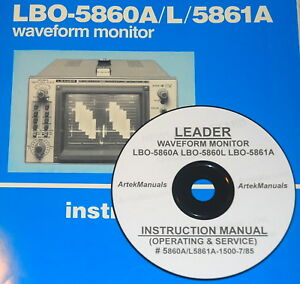 Details about LEADER LBO-5860A LBO-5860L LBO-5861A MONITORS OPS & SERVICE  MANUAL (Schematics)