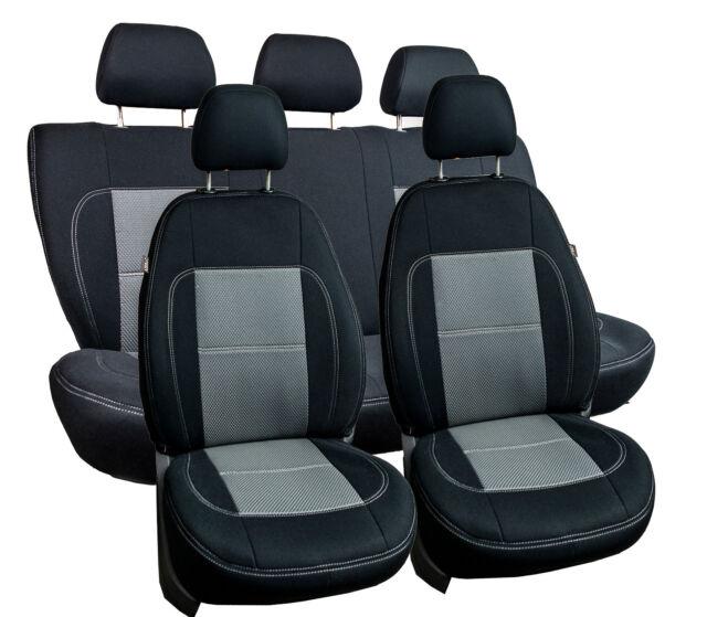 Sitzbezüge dunkel grau vorne KOS VW SHARAN