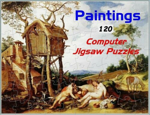Vintage Paintings 120 Images Jigsaw Puzzles on CD